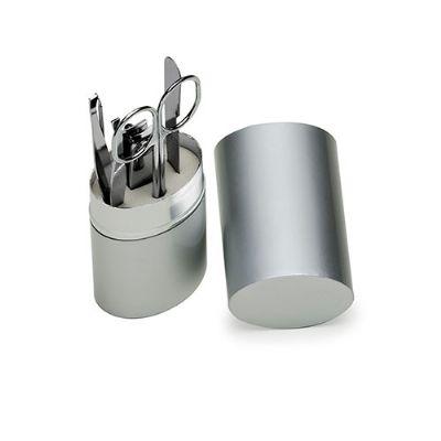 Ewox Promocional - Kit Manicure 5 peças com Estojo de Alumínio