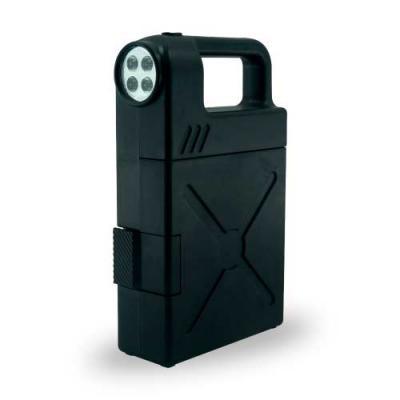 Kit ferramenta plástico com 24 peças e lanterna. Material plástico com alça, possui botão superio...