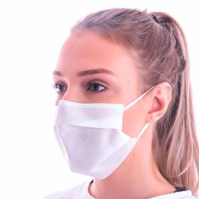 Máscara descartável TNT SMMMS, tecido em conformidade com resolução da Anvisa. A máscara possui c...