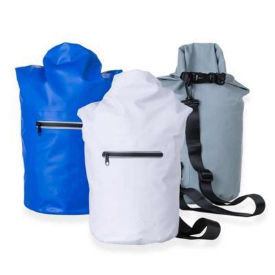 Mochila saco 10 litros à prova d´água. Material confeccionado em lona, possui costura soldada resistente, lacre dobrável, alça ajustável para costa(re... - Ewox Promocional