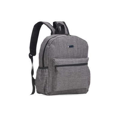 Ewox Promocional - Mochila de nylon com plaquinha para gravação. Compartimento grande com bolso interno para notebook de revestimento poliester e bolso frontal. Possui b...