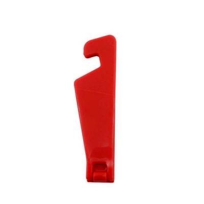 Suporte plástico para celular. Basta abrir o suporte e encaixar o celular para utilização em hori...