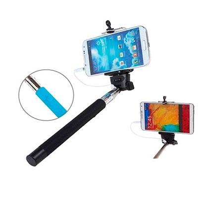 Bastão extensível para selfie, cores: Preto, azul, verde, roxo e vermelho. consultar disponibilidade, acionamento de foto via cabo P2.