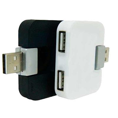 Ewox Promocional - Hub USB 4 entradas, plástico resistente. Gravação em tampografia a uma cor