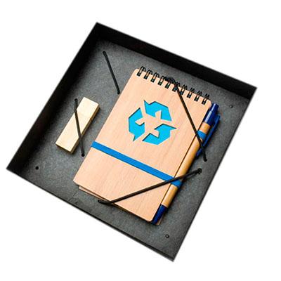 Ewox Promocional - Kit com pen drive e bloco de anotações.
