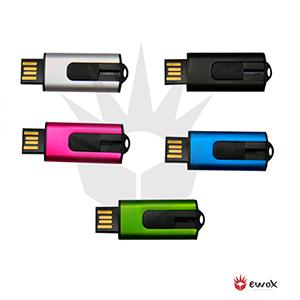 ewox-promocional - Pen drive produzido em metal colorido com 4GB, resistente a choque e água com USB 2.0