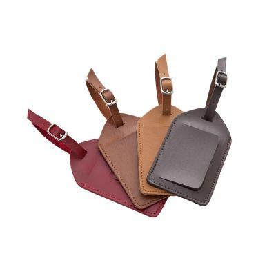 couro-vip - Identificador de bagagem em couro.