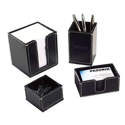 couro-vip - Kit escritório em couro legítimo ou sintético.