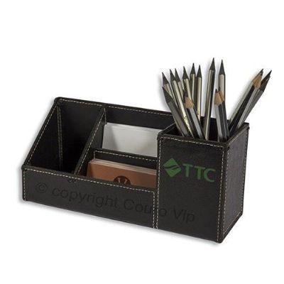 couro-vip - Porta-canetas personalizado em couro.