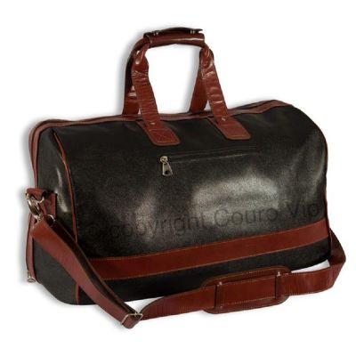 Couro Vip - Mala de viagem em couro legítimo ou sintético,  contém 2 bolsos externos e 1 interno com zíper, forro em tecido 100% poliéster, alça de mão e ombro....