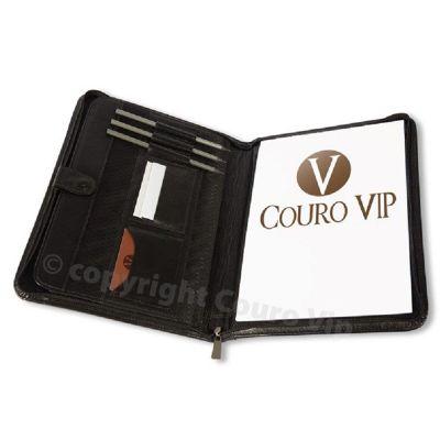 couro-vip - Pasta convenção em couro.