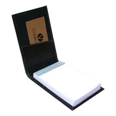 Couro Vip - Bloco de anotação com 100 folhas.