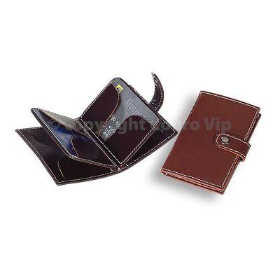 couro-vip - Porta-cartão em couro.