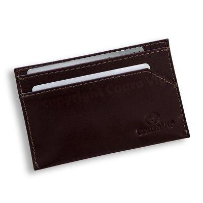 couro-vip - Porta cartão de visita em couro.