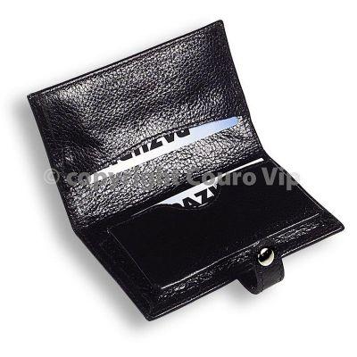 couro-vip - Porta-cartão de visita em couro.
