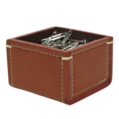 Couro Vip - Porta-clips em couro.
