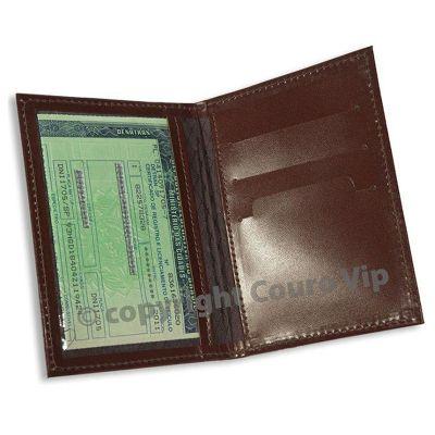 couro-vip - Porta-documentos em couro.