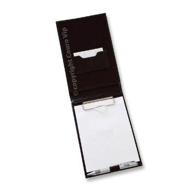 couro-vip - Porta receituário em couro.
