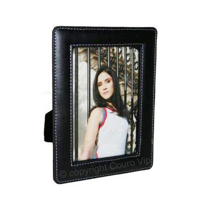 couro-vip - Porta-retrato em couro.