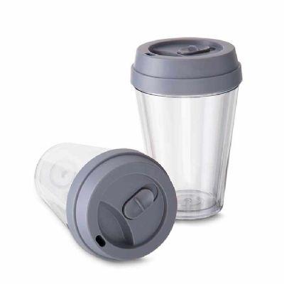 Fly Brindes - Copo plástico com tampa 320 ml