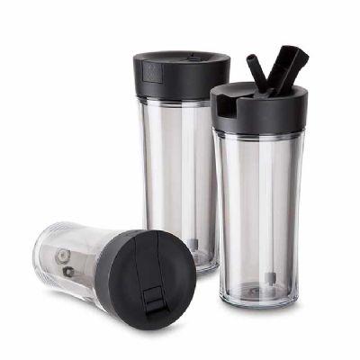 fly-brindes - Copo plástico com bico e canudo 550 ml