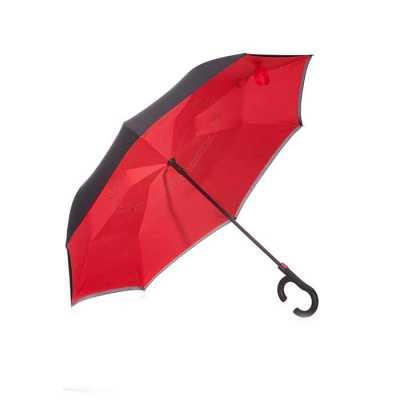 fly-brindes - Guarda-chuva invertido com forro interno. Tecido de nylon impermeável externo(preto) e interno(colorido), possui um mecanismo inovador que permite ao...