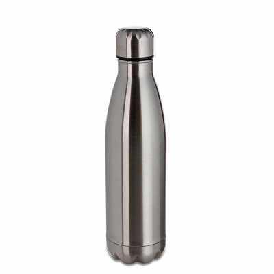 Garrafa térmica 480ml em inox com pintura fosca. Possui tampa rosqueável, pode ser utilizada com líquidos quentes ou frios. - Fly Brindes