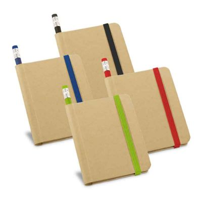 Caderno capa dura com lápis - Fly Brindes