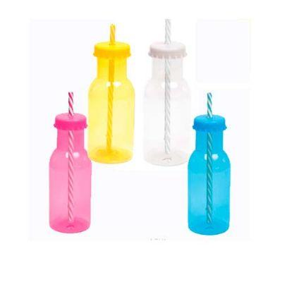 fly-brindes - Garrafinha plástica com canudo