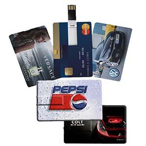 Fly Brindes - Pen card com gravação UV, dois lados e capacidade de 4gb e 8gb.