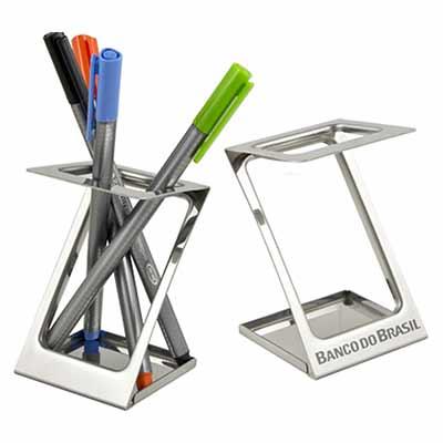 Fly Brindes - Porta caneta personalizado.