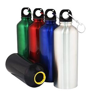 fly-brindes - Squeeze com mosquetão em alumínio com capacidade 500ml.