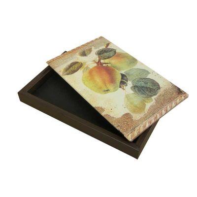 Dake - Caixa em madeira com tampa articulada por dobradiças que possibilita colocação de fotos no tamanho 08x14cm, com quatro Sabonetes em diversas fragrânci...
