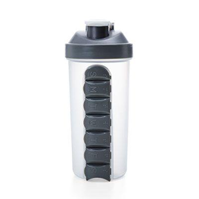 Coqueteleira plástica 750ml com porta comprimido