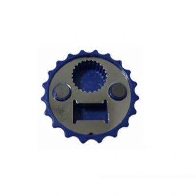 Abridor de garrafa personalizado formato tampa de metal com imã de geladeira.
