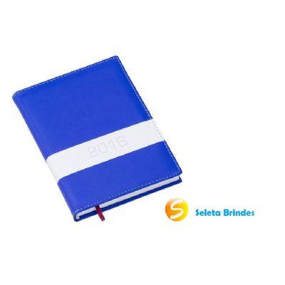Seleta Brindes - Agenda com capa de couro de 2016.
