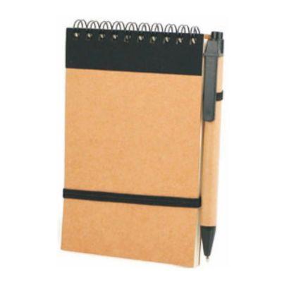 seleta-brindes - Bloco de anotações ecológico com caneta