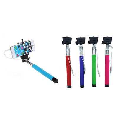 Seleta Brindes - Bastão de metal e borracha para fotografia (cabo de selfie).