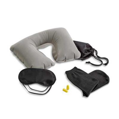 Seleta Brindes - Kit de viagem. Incluso almofada de pescoço, máscara para dormir, tampões para ouvidos (não é um equipamento de proteção individual) e 1 par de meias....