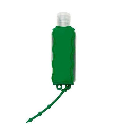 Chaveiro porta álcool gel, material emborrachado com capacidade para frasco de 60ml. Incluso fras...