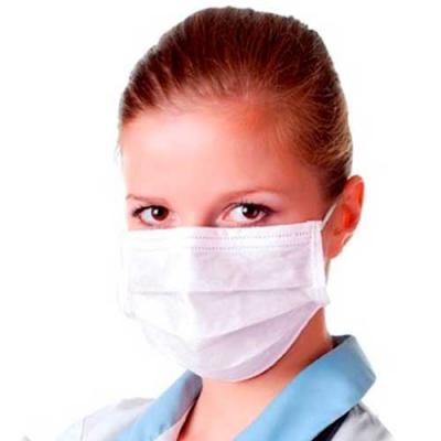 Máscara tripla TNT com clip nasal