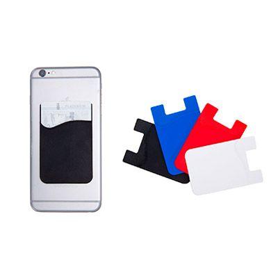 luxus-comercial - Porta cartões para celular em PVC. Com autocolante. Medida: 56 x 89 x 1 mm.