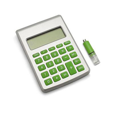 Calculadora ecológica com 8 dígitos, movida a água - Luxus Comercial