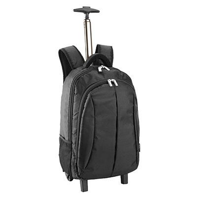 Mochila importada, em nylon de alta qualidade, com rodinhas e porta notebook 15', tamanho:mochila 33x20x60cm - Luxus Comercial