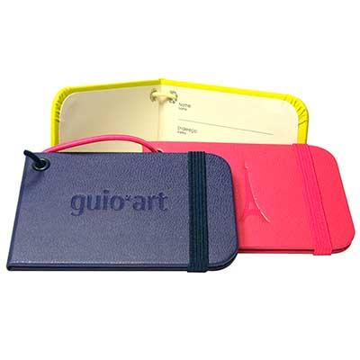 guio-art - Tag de mala/Identificador de bagagem tipo Moleskine