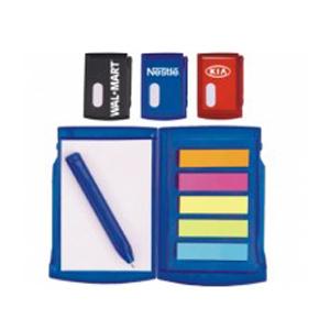 RF Canetas e Brindes - Bloco de anotações, 50 páginas com 25 stick-notese mini caneta de plástico