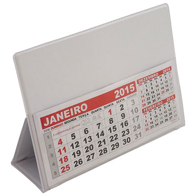 RF Canetas e Brindes - Calendário de mesa em PVC. Cores variadas. Quantidade mínima 300 peças