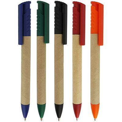 RF Canetas e Brindes - Caneta ecológica com clip e ponteira de plástico. cores variadas disponíveis. Quantidade mínima 500 peças
