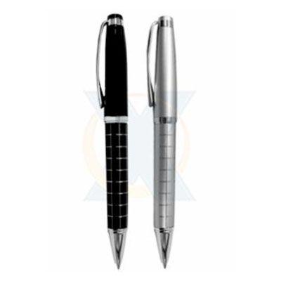 rf-canetas-e-brindes - Caneta metálica acompanha embalagem individual de veludo.