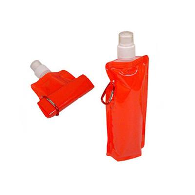 rf-canetas-e-brindes - Squeeze dobrável com mosquetão e capacidade para 480ml